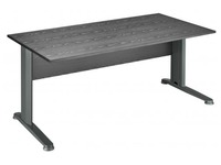 Start Plus, straight desk, black top 140 x 80 cm, metallic legs