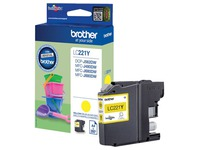 Brother LC221Y - yellow - original - ink cartridge
