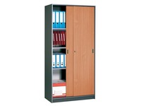 Cabinet in anthracite with sliding doors 180 x 90 cm