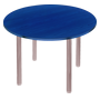 Round table Bruneau diameter 120 cm with 4 legs beech table