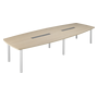 Modular meeting table Belem for 14 people light oak