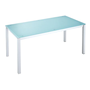 Table de réunion Krystal en 140 x 80 cm aigue-marine