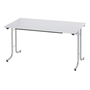 Classic folding table rectangular 140 x 70 cm grey