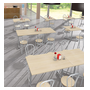 Pack Vilma 2 - Table rectangulaire + 4 chaises